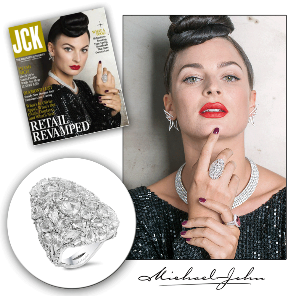 Look straight into this white gold and diamond stunner, we dare you! Thank you JCK Online for featuring this one-of-a-kind piece by Michael John Jewelry!