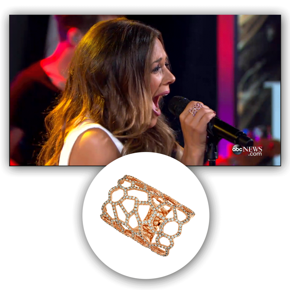 Nobody sparkles in this rose gold and diamond Royal Jewelry fashion ring like Jana Kramer does!