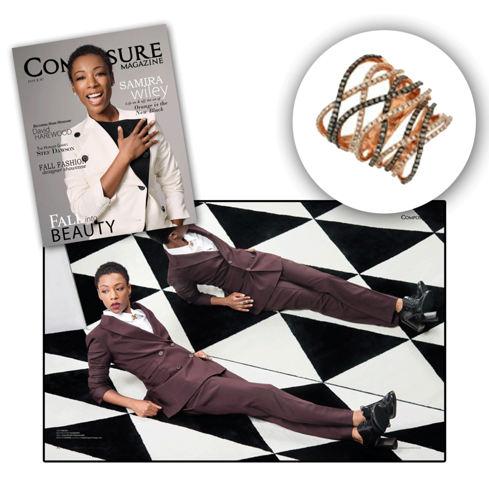 Thank you Composure Magazine for featuring Samira Wiley sparkling in Royal Jewelry & Sylvie Collection (below).
