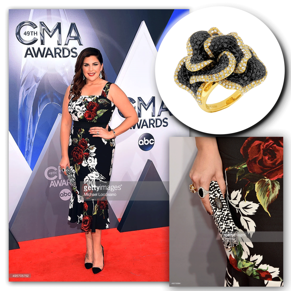 Hillary Scott of Lady Antebellum looks absolutely striking on the red carpet, as she glitters in Royal Jewelry!