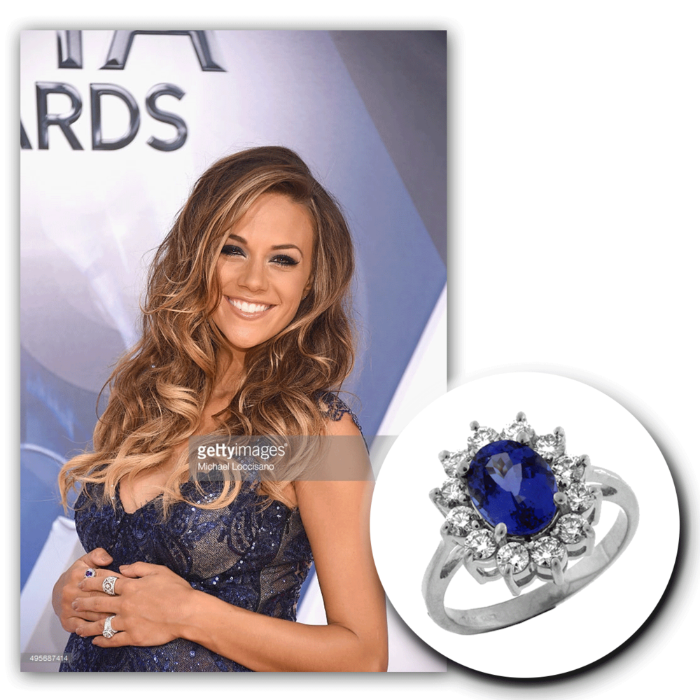 Picture perfect? We say yes! We adore Jana Kramer in her lovely lace and matching Royal Jewelry jewels to match!