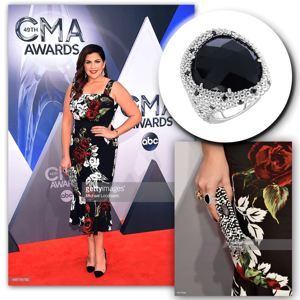 Hillary Scott of Lady Antebellum glows on the red carpet at the Country Music Awards in this Phillip Gavriel cocktail ring!