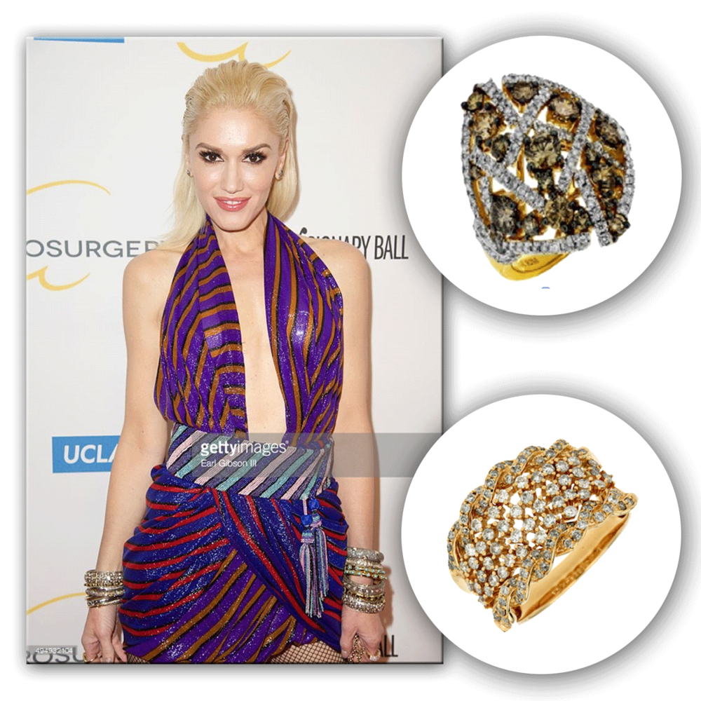 Sparkling brighter than the sun on a California summer day, Gwen Stefani effortlessly glistens in Royal Jewelry jewels!