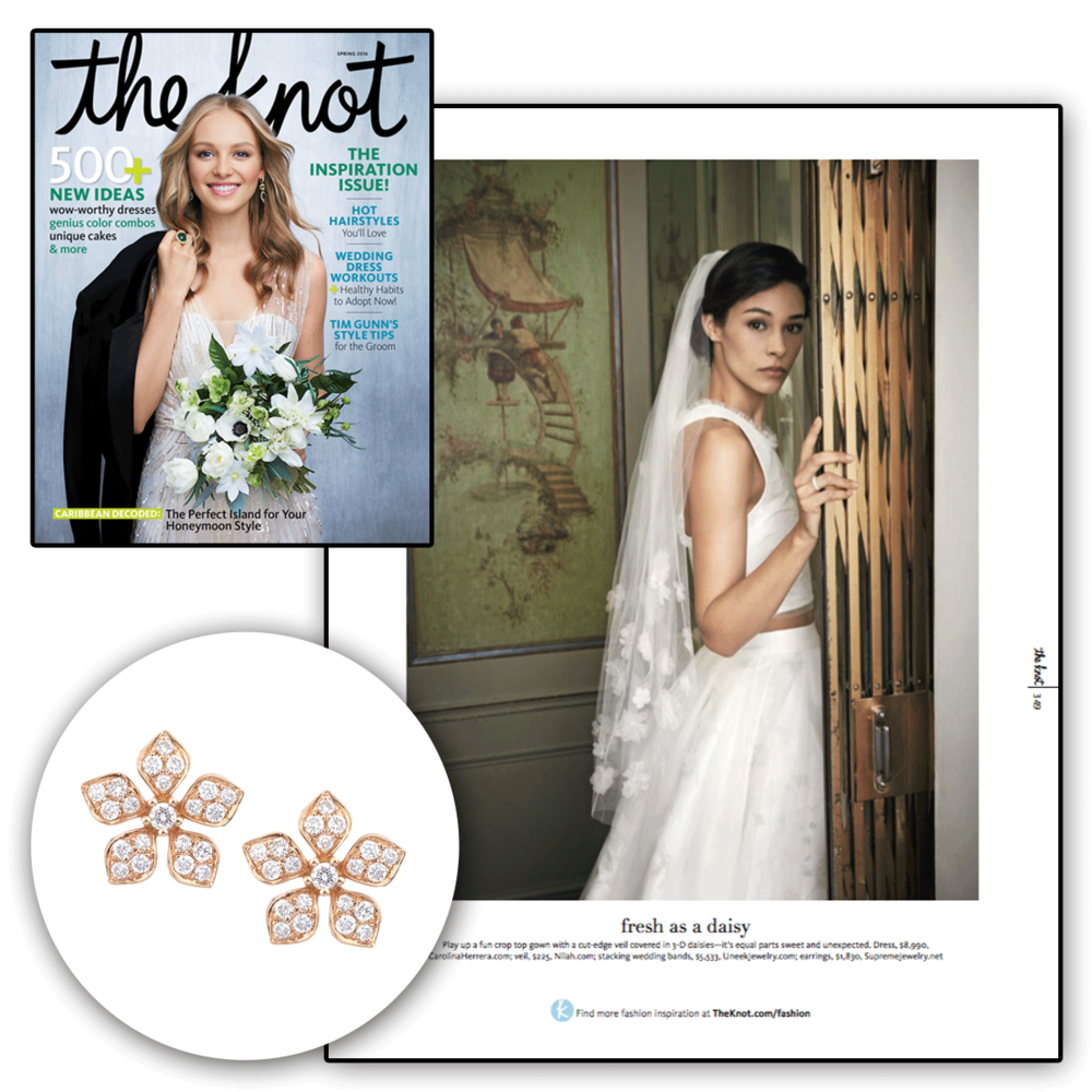 Are you looking to add a little floral to your life? Check out these oh-so-floral studs by Supreme Jewelry in the newest edition of The Knot.