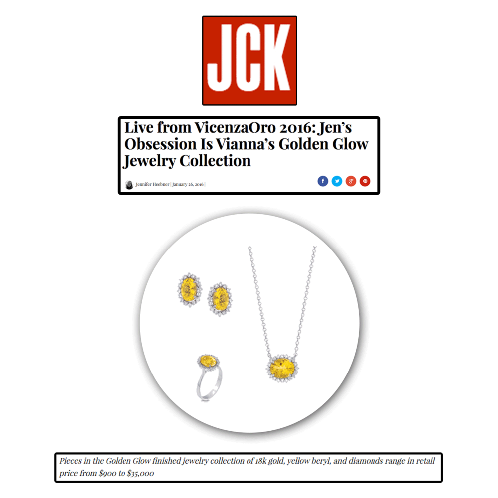 Who doesn't love a beautiful day of sunshine? These 18K gold, yellow beryl and diamonds by VIANNA B.R.A.S.I.L, featured on JCK Online, bring the perfect ray of sunshine to your jewelry collection.