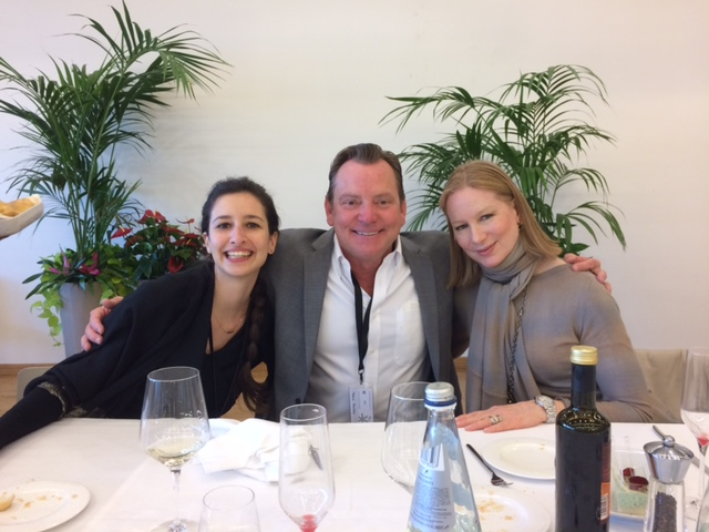 (From left to right) Alice Sartori of Fiera di Vicenza and LBG's Frank Proctor and Nancy Robey in Italy for the Vicenzaoro January 2016 show.