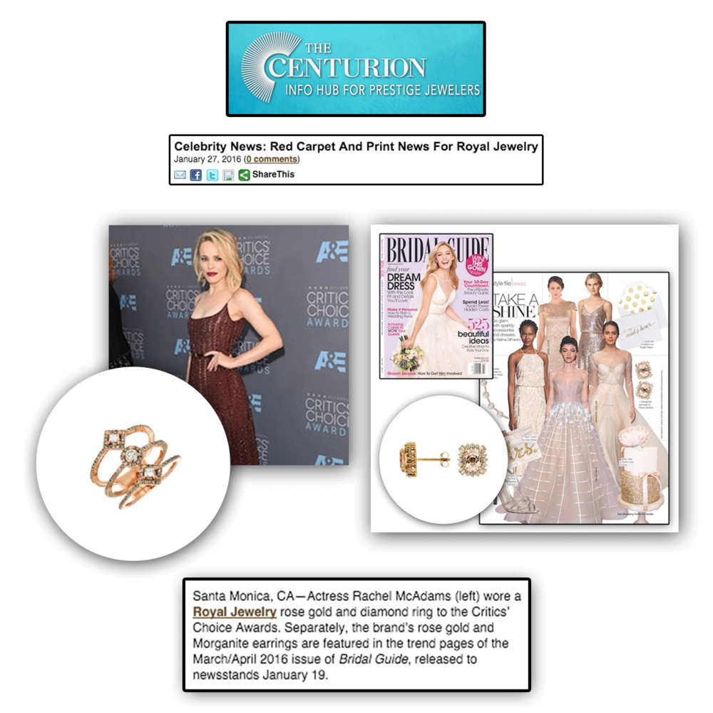 Double feature!Thank you Centurion for these two fabulous features of Royal Jewelry.