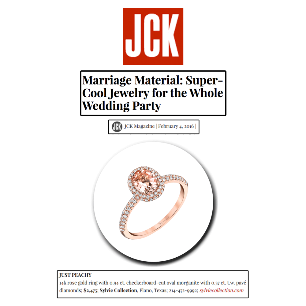 No one said marriage would necessarily be fun and games, but we can definitely make your life a whole lot easier...especially when it comes to attendant gifting. Thank you JCK Marketplace for featuring this rose gold and morganite Sylvie Collection ring.