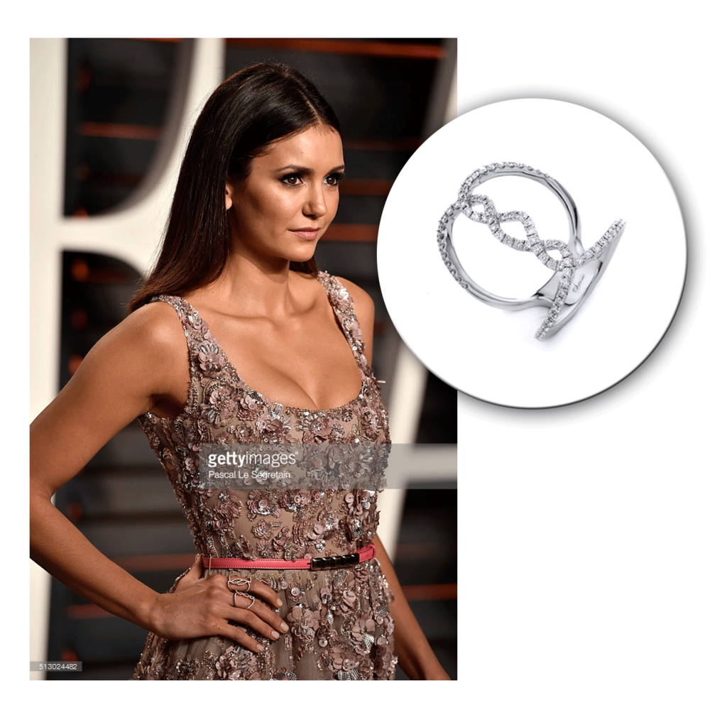 Nina Dobrev slayed in Supreme Jewelry at the Vanity Fair Oscar Party, don't you think?