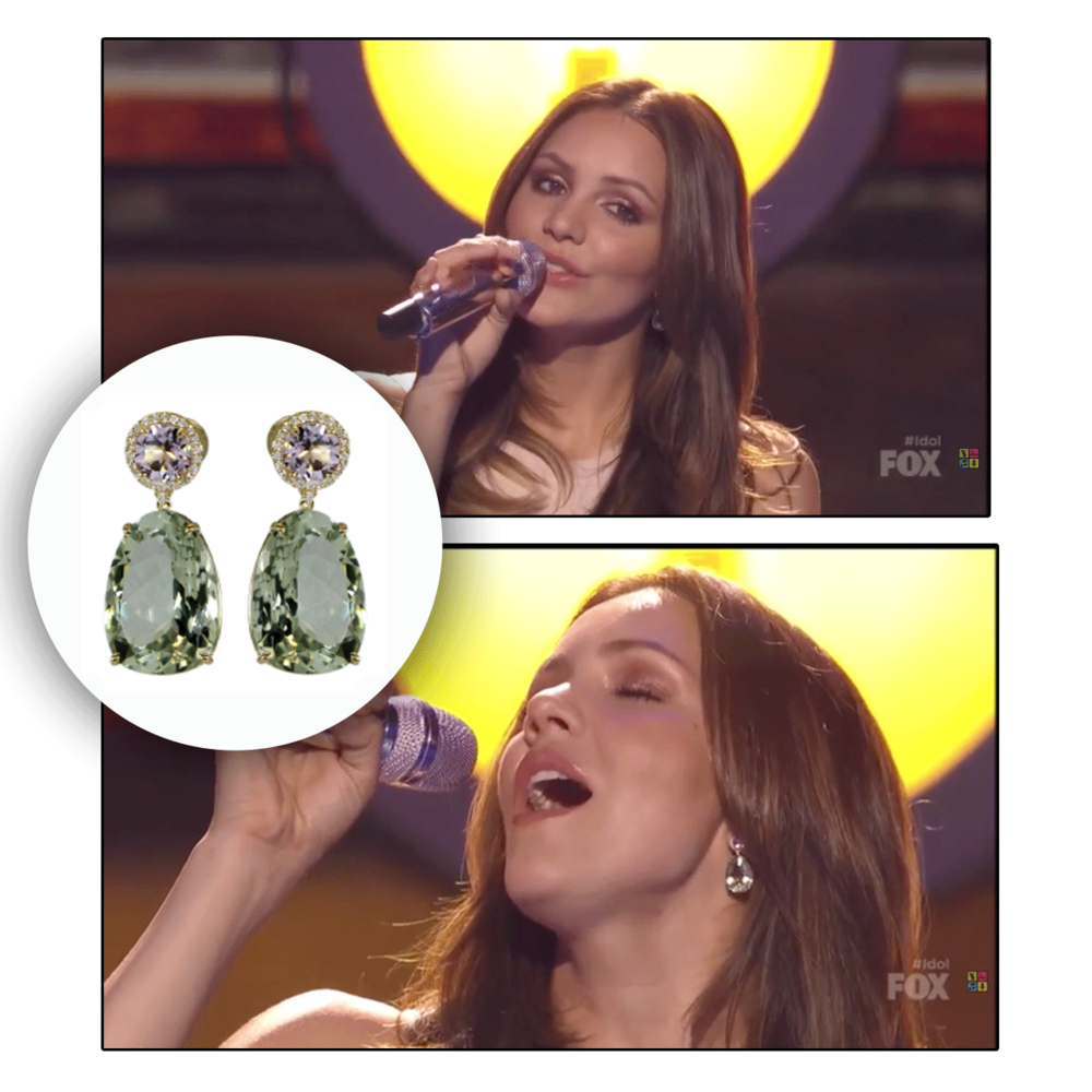 Not only does she have a stunning voice, Katharine McPhee has such a beautiful soul. How eccentric does she look as she drips in these VIANNA BRASIL drop earrings?!