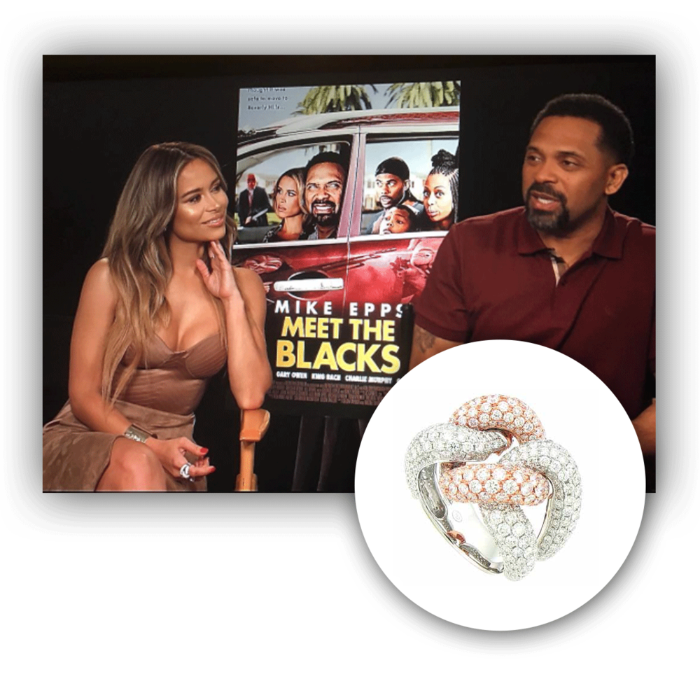 There she is again, the lovely Zulay Henao sparkling so effortlessly in this two-tone Supreme Jewelry cocktail ring.