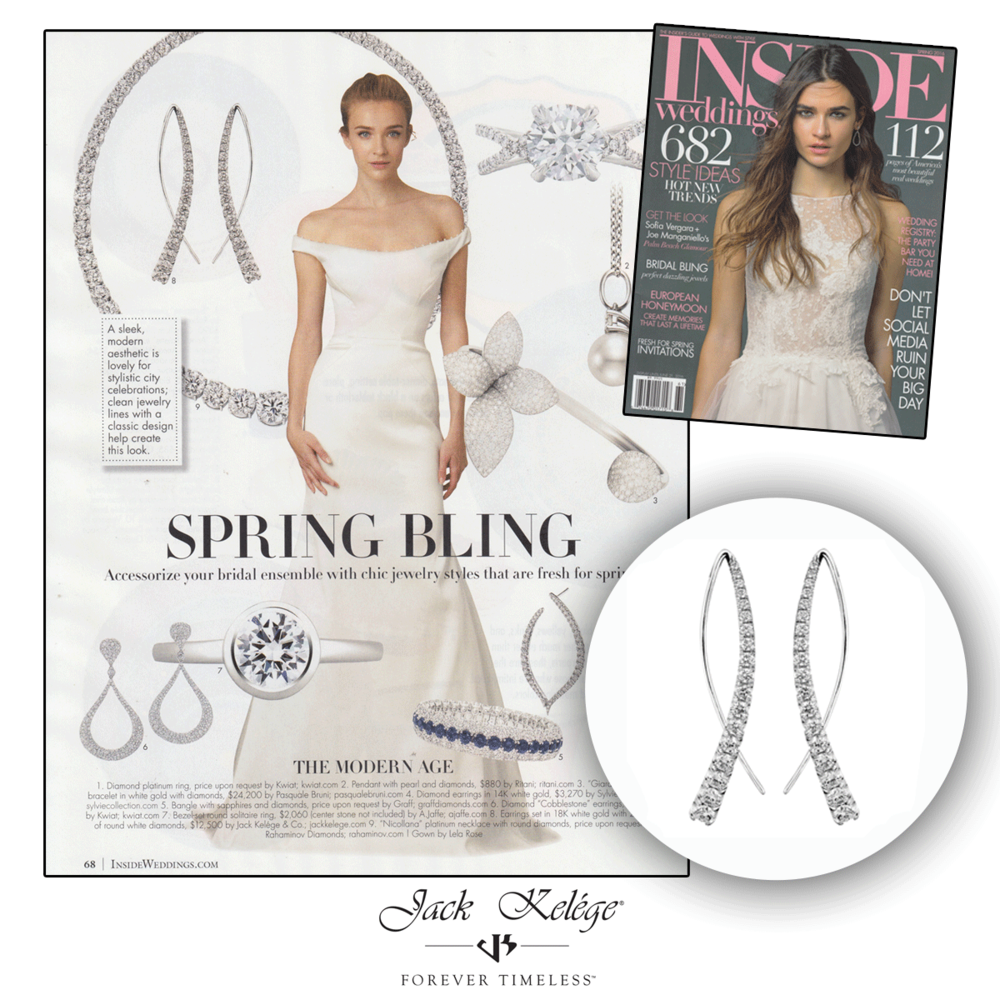 It's time to bling in spring! These Jack Kelege bow-shaped earrings are the perfect way to bring forth the new season!