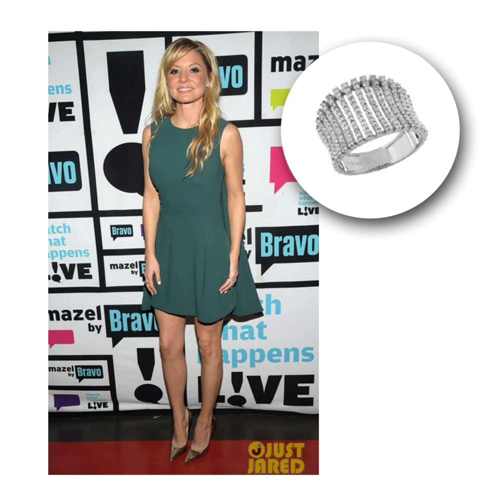 Kaitlin Doubleday takes simple elegance to a whole new level, especially as she sparkles in this white gold and diamond Royal Jewelrystatement ring.