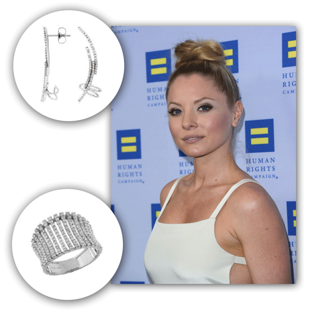 Here she is again, the lovely Kaitlin Doubleday at a recent Human Rights Campaign event...sparkling so effortlessly in Royal Jewelry diamonds!