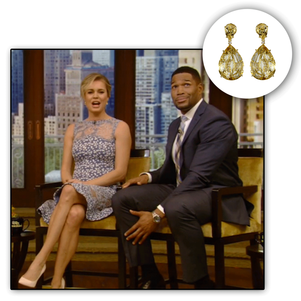 Can't help but stare at the gorgeous Rebecca Romijn dripping in these eccentric VIANNA BRASIL drops!