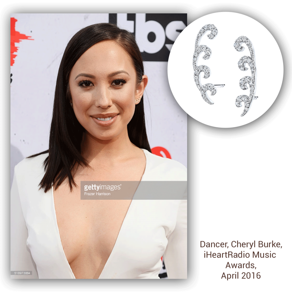 Cheryl Burke looks stunning on the red carpet in these Sylvie Collection ear climbers, don't you think?