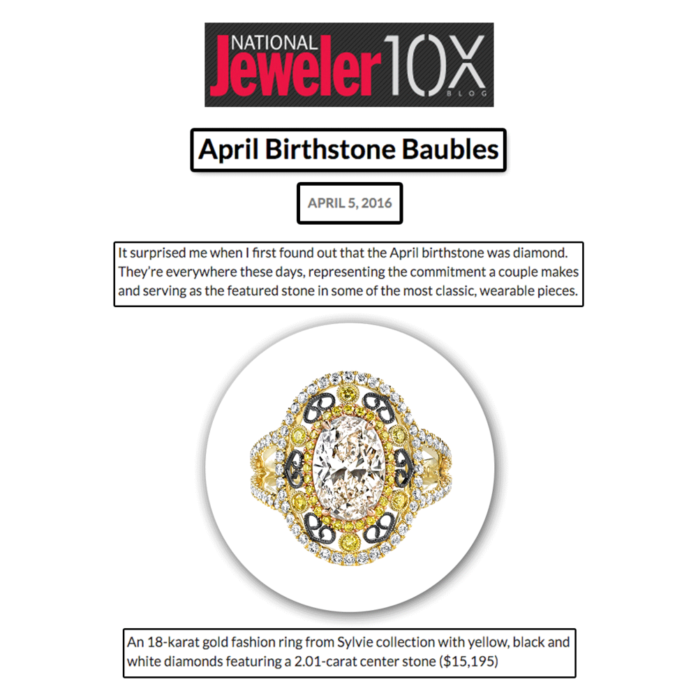 Thank you National Jeweler for featuring this Sylvie Collection stunner!