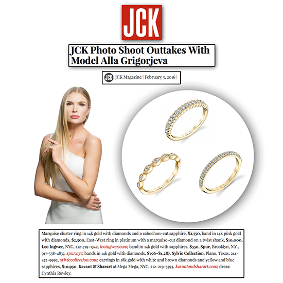 This spring, it's all about sparkling in yellow gold and diamonds! Thank you JCK Magazine for featuring an assortment of Sylvie Collection bands.