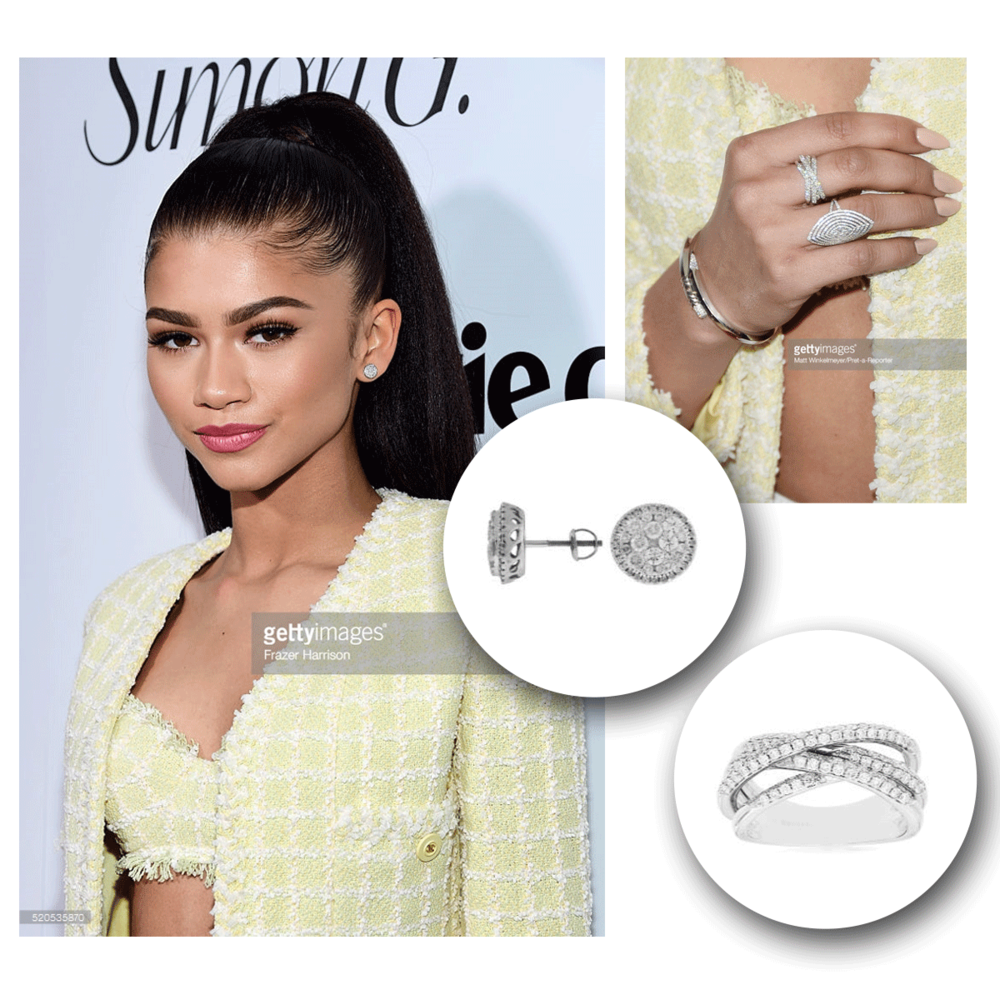 Zendaya looks picture-perfect in this diamond duo by Royal Jewelry!