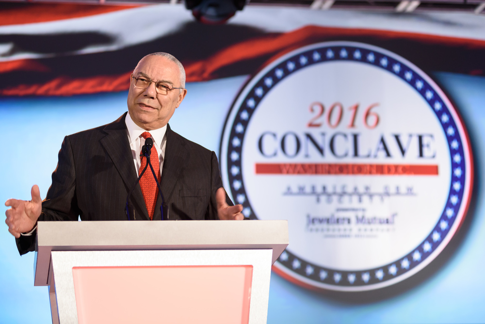 Former Secretary of State and retired four-star general, Colin Powell opened up AGS Conclave 2016 with such an insightful keynote address!
