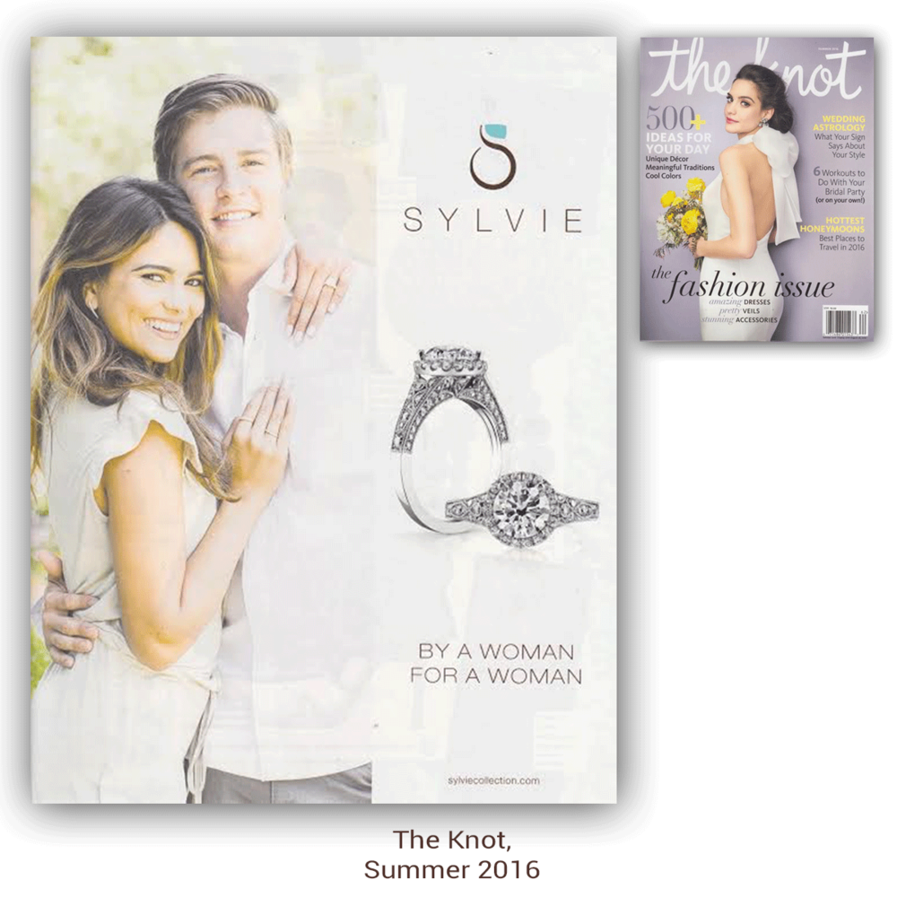 Thank you The Knot for featuring this eye-catching Sylvie Collection advertisement in your latest Summer 2016 issue!