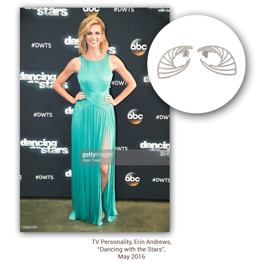 Erin Andrews was channeling her inner Greek goddess in Sylvie Collection during the season finale of DWTS.