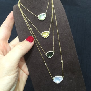 These precious stone pendants came in a variety of colors for everyone to enjoy.