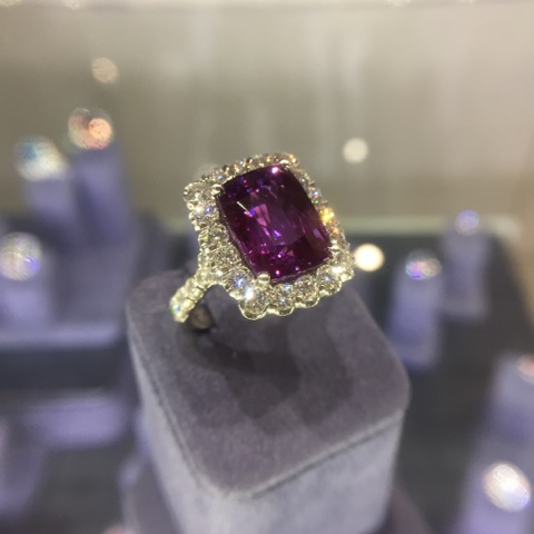 This absolutely stunning purple sapphire ring from Coast Diamond was definitely a show-stopper!