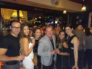 The LBG team celebrating their last night in Vegas together.