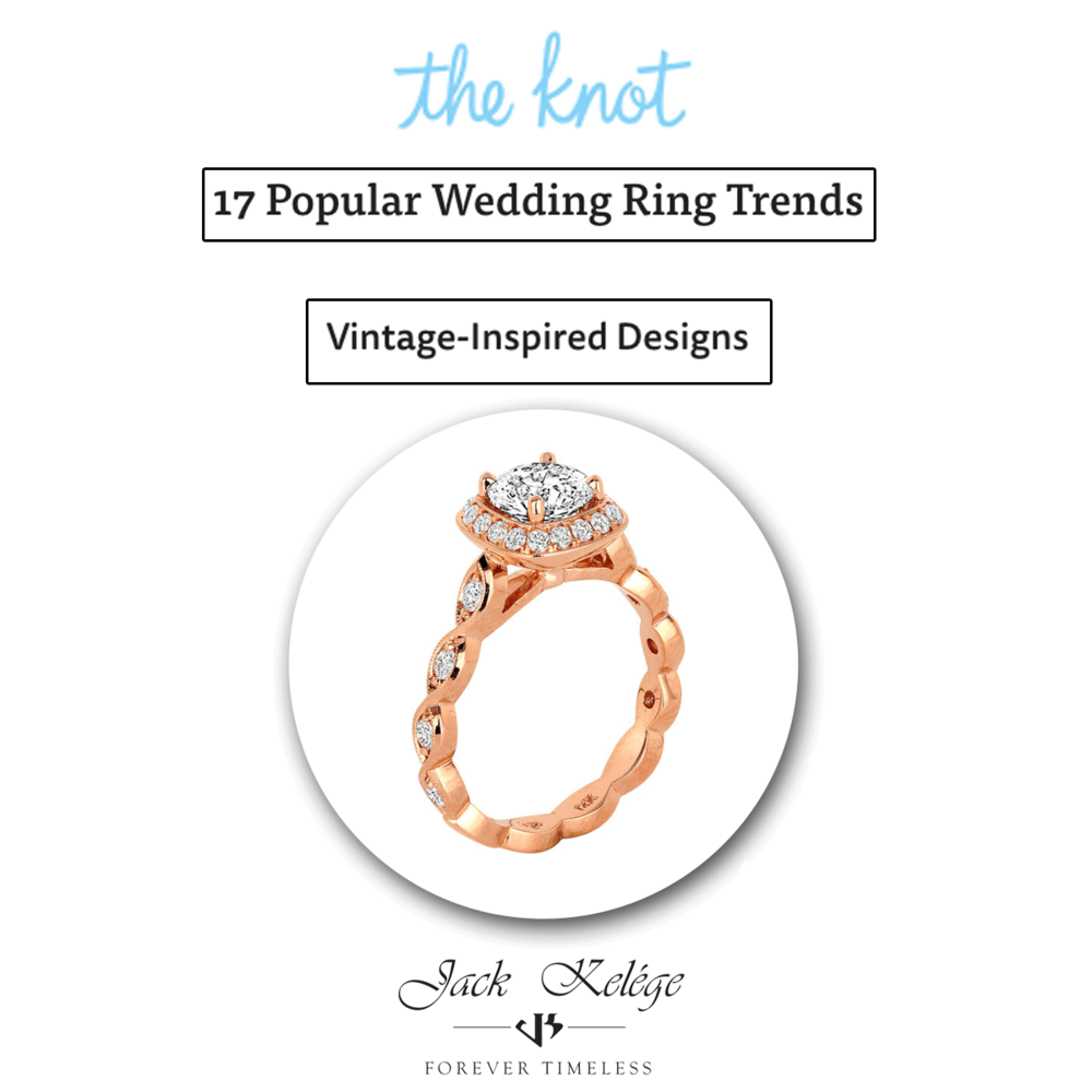Feeling regal? Then this vintage inspired Jack Kelége engagement ring is for you!