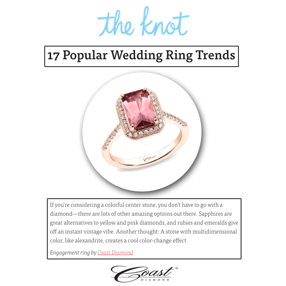 Pretty in pink and oh so chic! Coast Diamond makes amazing colored engagement rings!