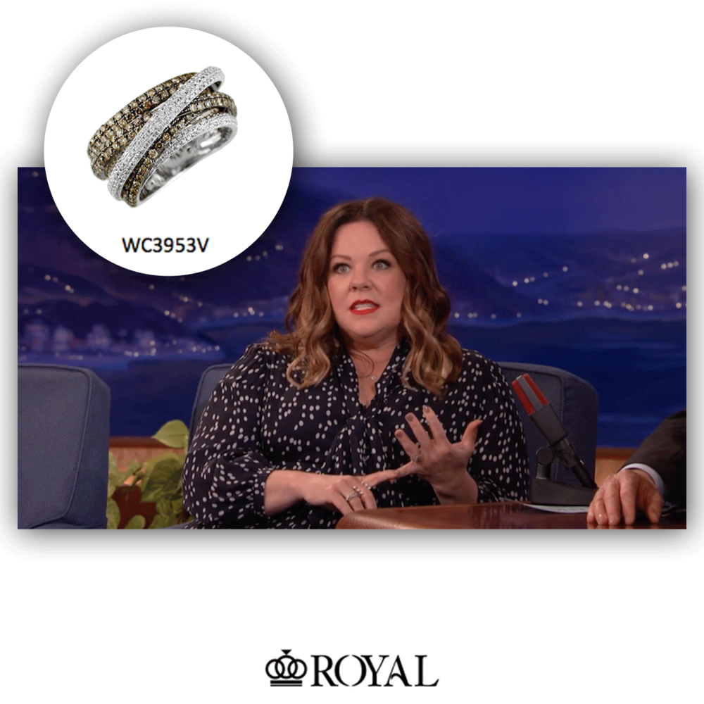 We spy a Royal Jewelry ring on Melissa McCarthy during an episode of Conan!