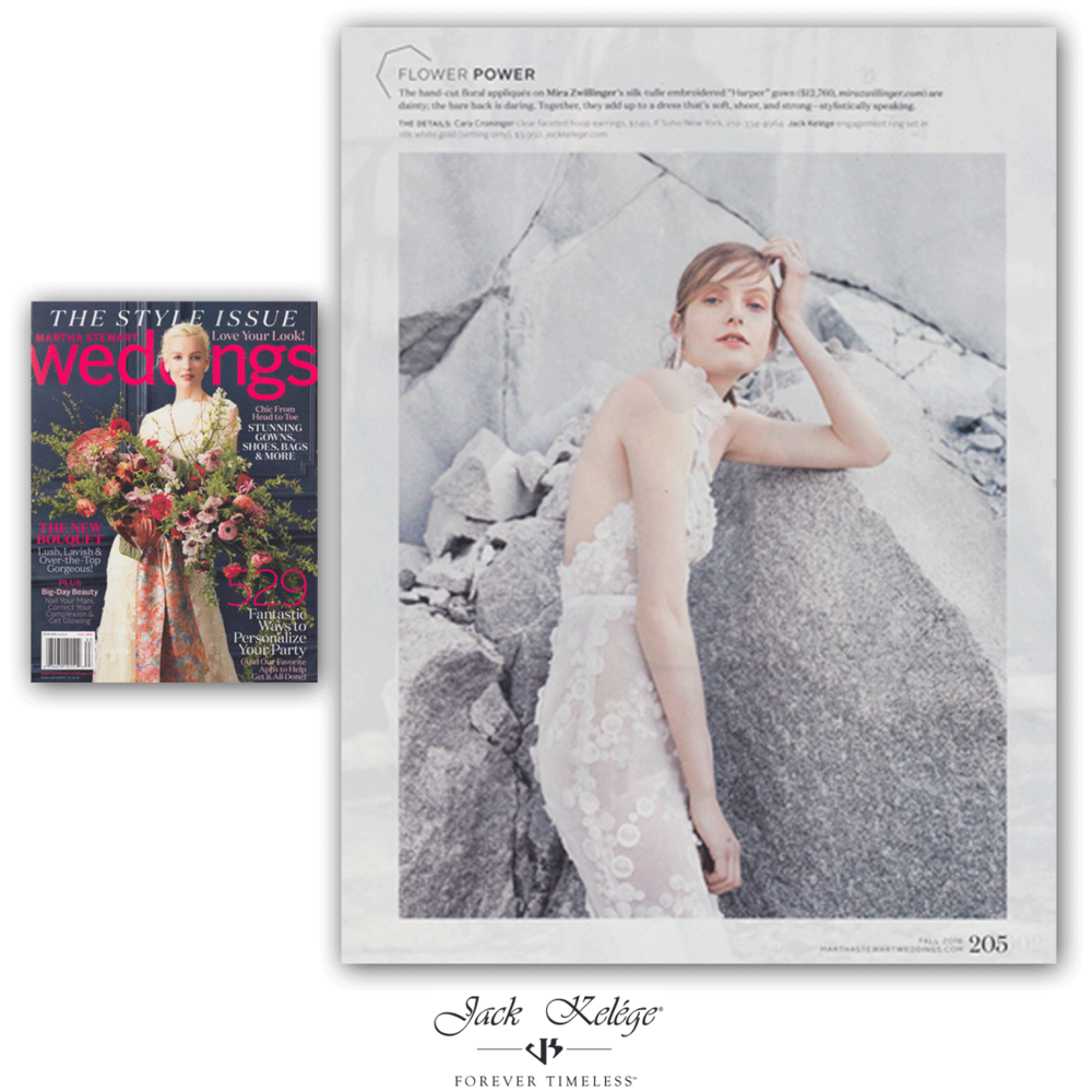 A Jack Kelége ring was featured in an editorial shoot for Martha Stewart Weddings!