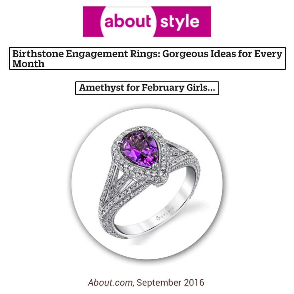 Pretty in Purple! This amethyst ring by Sylvie Collection will be hit for any February birthdays out there.