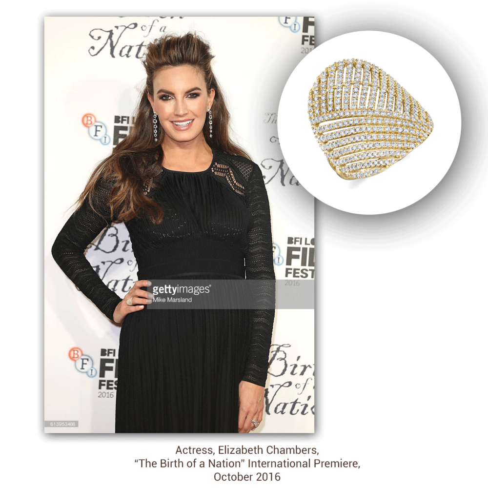 Elizabeth Chambers' pregnancy glow isn't the only thing we can't take our eyes off of! The gleam coming off this Sylvie Collection ring is gorgeous - don't you think?