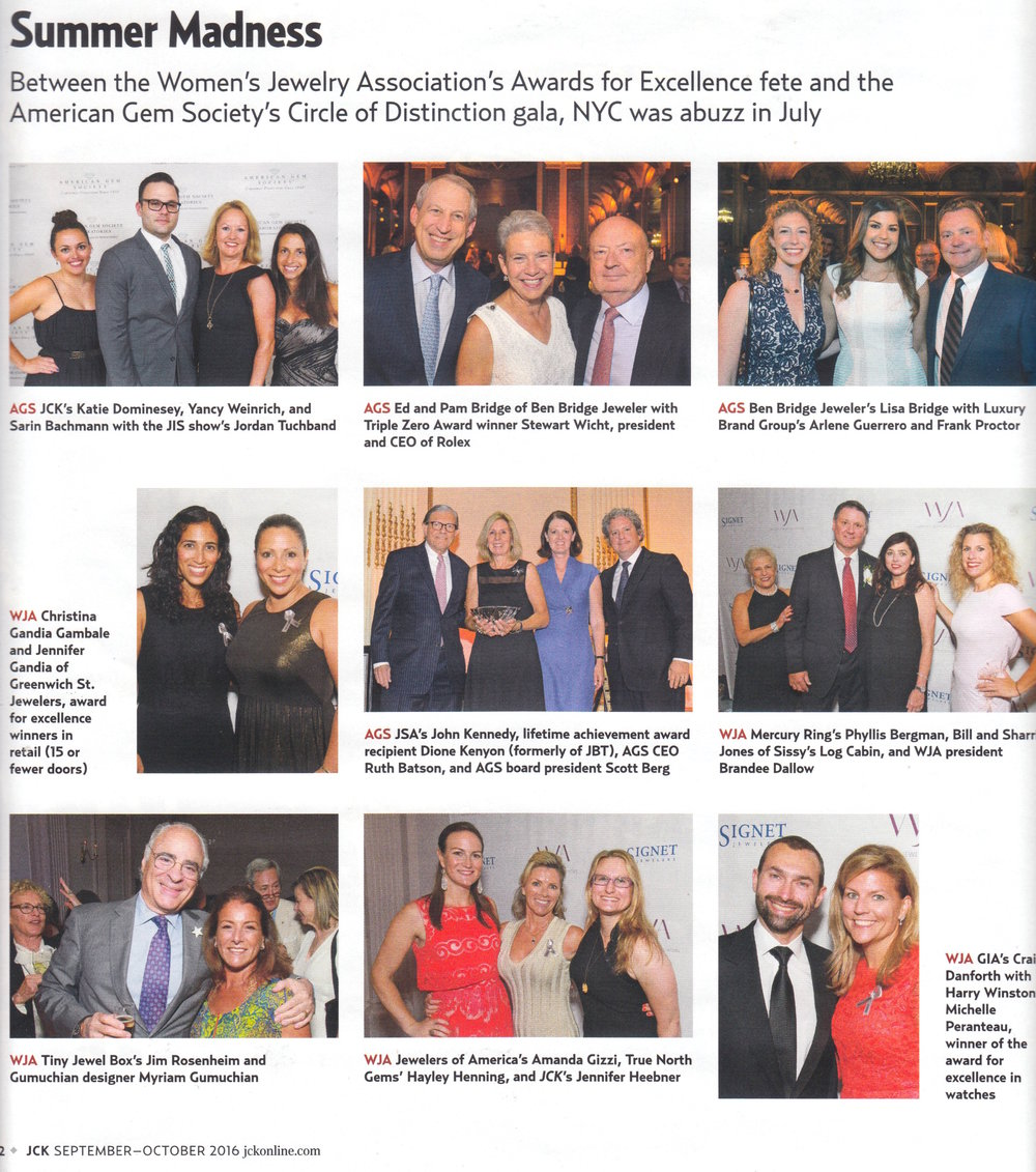 Oh hey LBG team! We spotted Frank and Arlene with our client Lisa Bridge of Ben Bridge Jeweler in the pages of JCK Magazine.