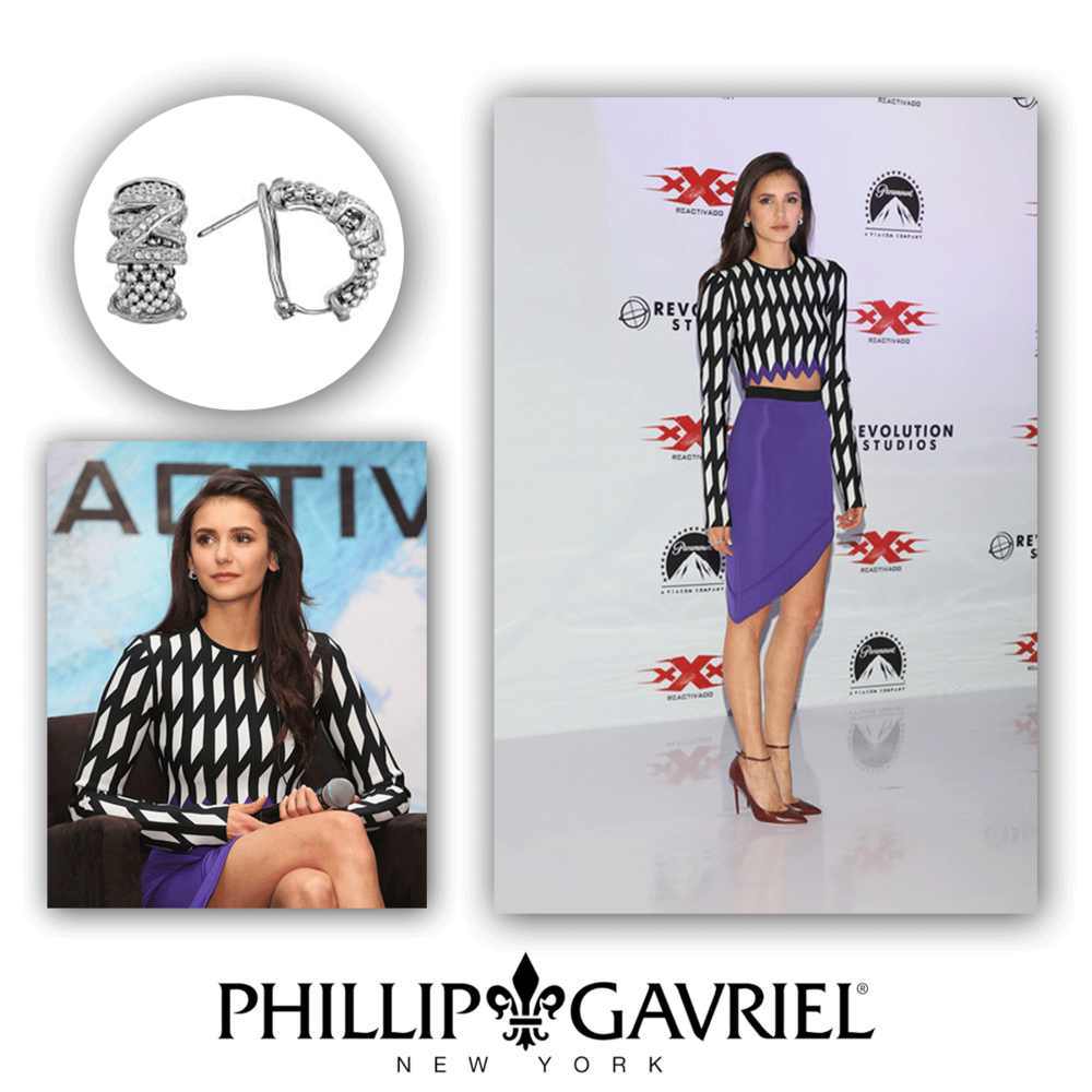 Nina looks absolutely stunning in these Philip Gavriel earrings!