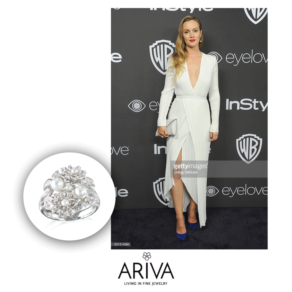 Talk about rocking the red carpet! Leighton Meester rocked this ring from Ariva at the Golden Globes.