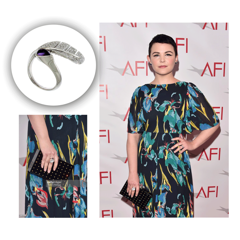 Ginnifer Goodwin was giving us major tropical vibes at the 17th Annual AFI Awards! This botanical-inspired ring from Supreme Jewelry was a perfect match for her.