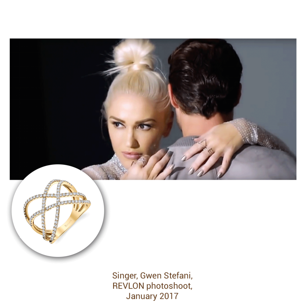 Gwen Stefani couldn't look more fierce! She's wearing Sylvie Collection.