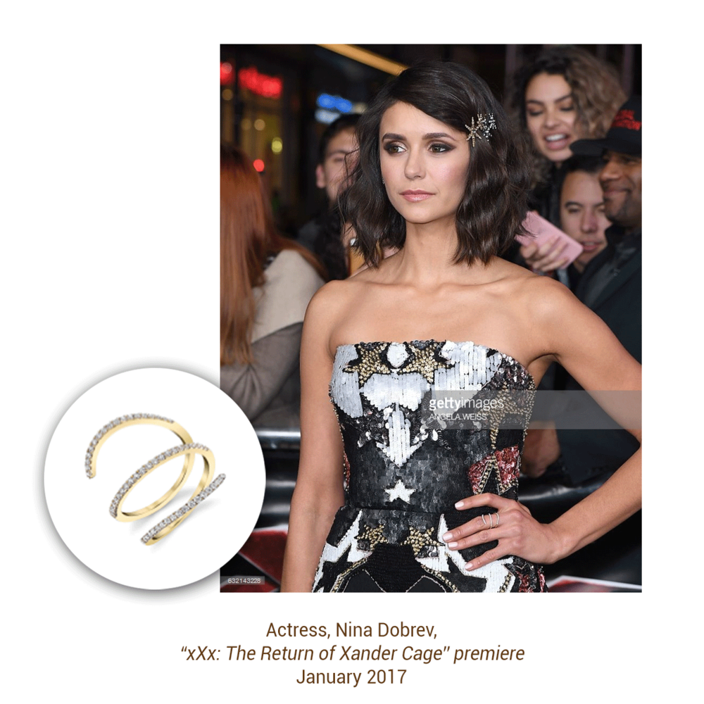Flawless as always, Nina Dobrev slays the red carpet in Sylvie Collection!