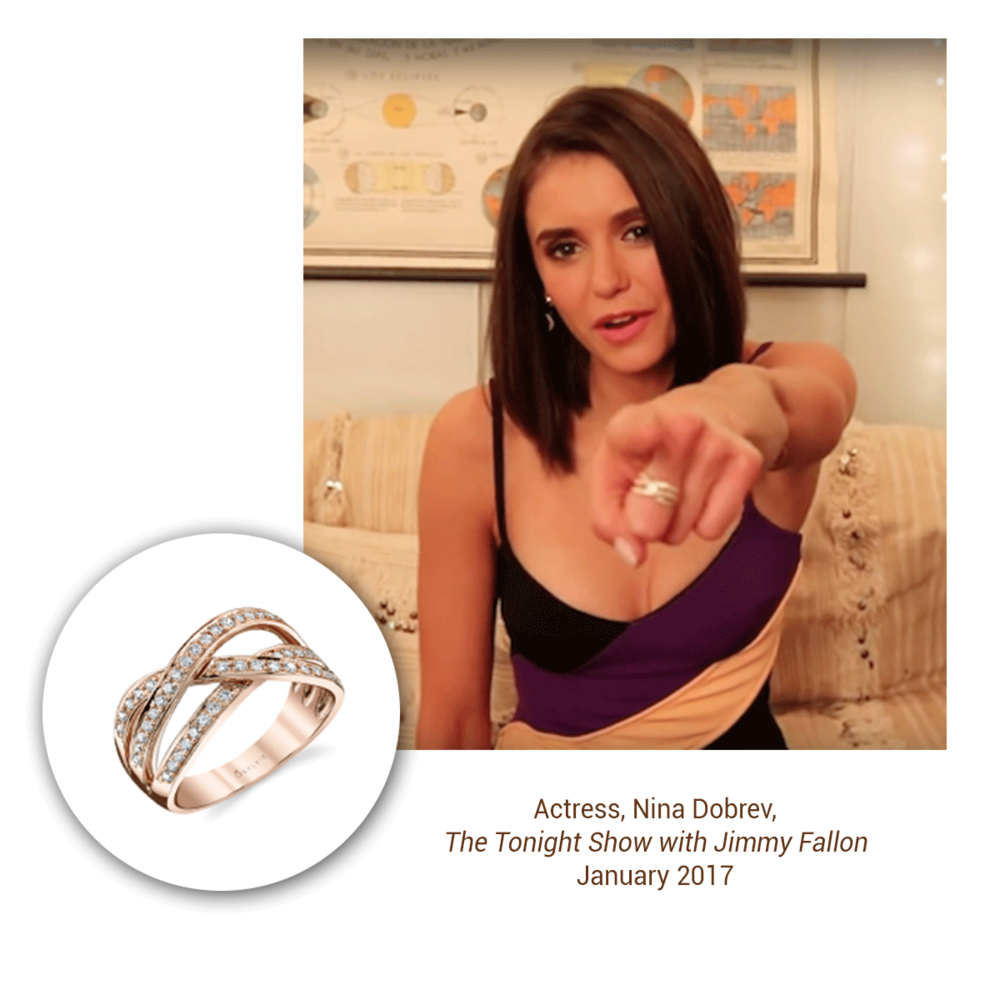 It was easy to spot this dazzling Sylvie Collection ring on Nina Dobrev!