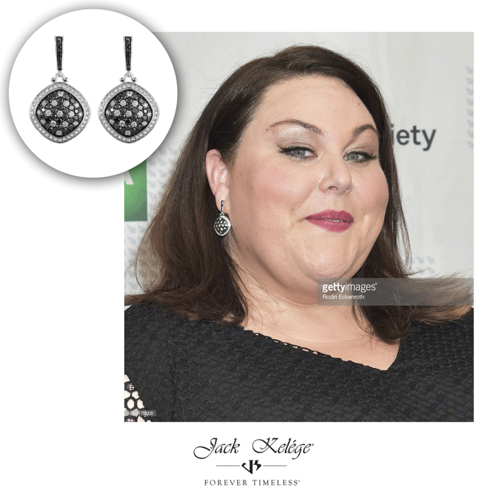 The beautiful and talented actress, Chrissy Metz, wore these Jack Kelége earrings at the 2017 Annual Artios Awards!