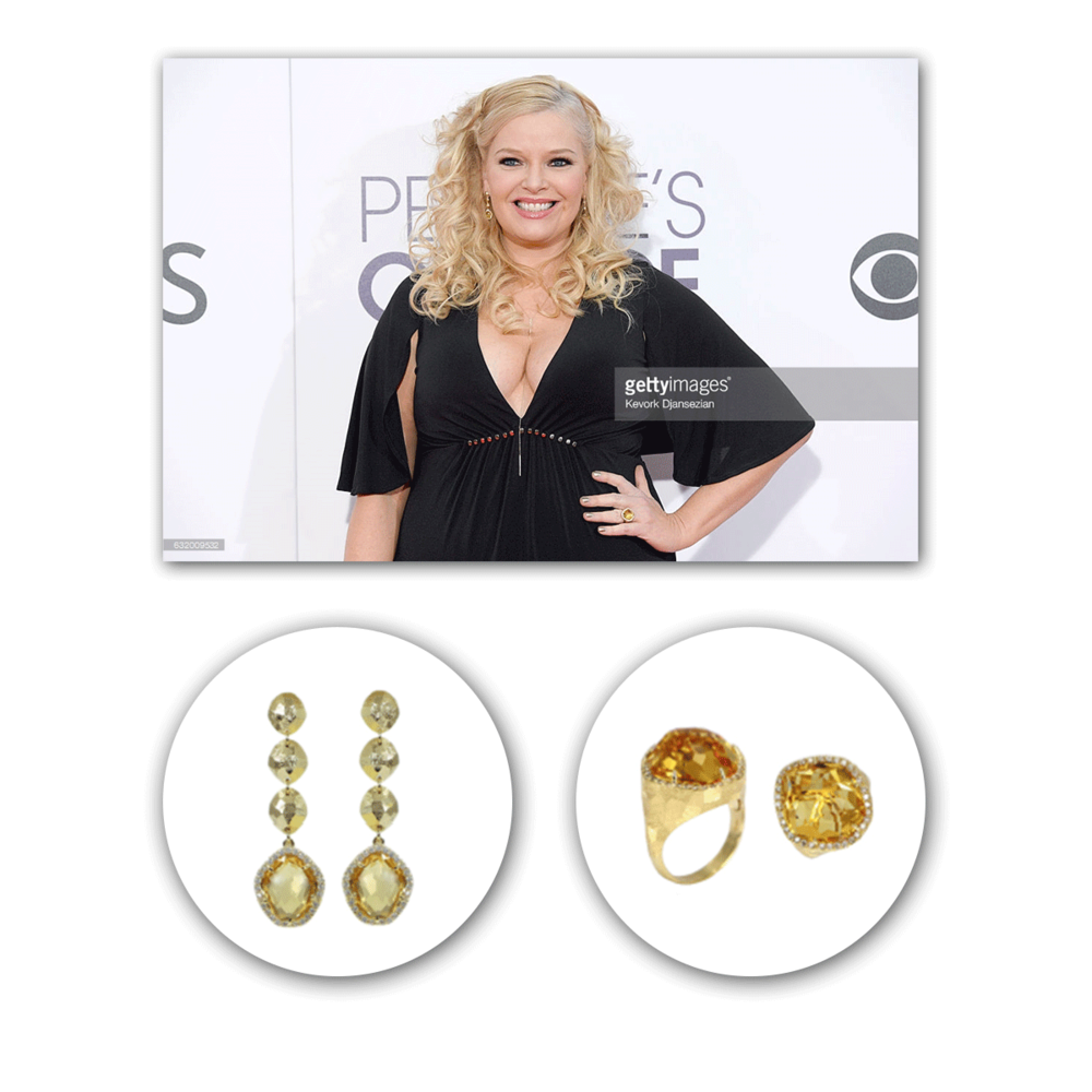 "Co-Star of the hit show ""Baby Daddy,"" Melissa Peterman looked ravishing in VIANNA B.R.A.S.I.L. at the People's Choice Awards!"