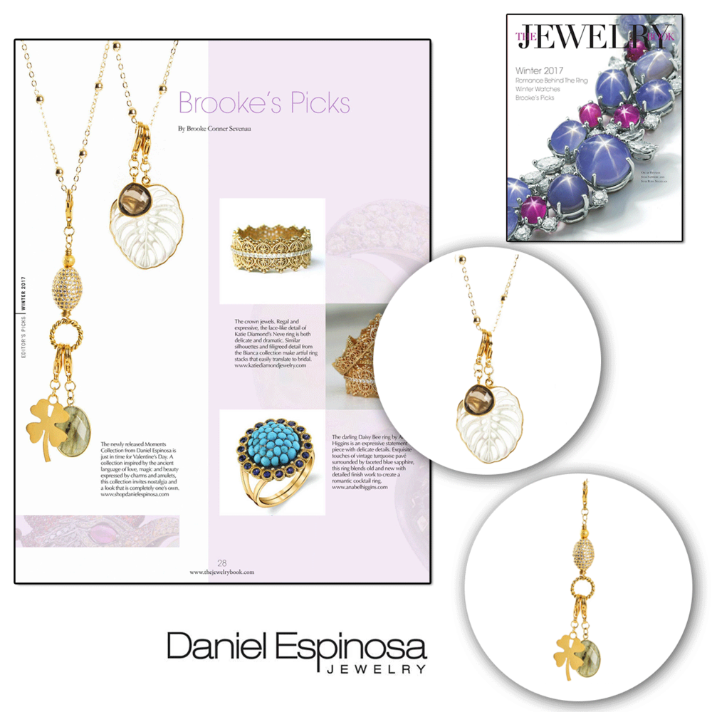 Wowza! Two lovely pieces from Daniel Espinosa were featured in The Jewelry Book.
