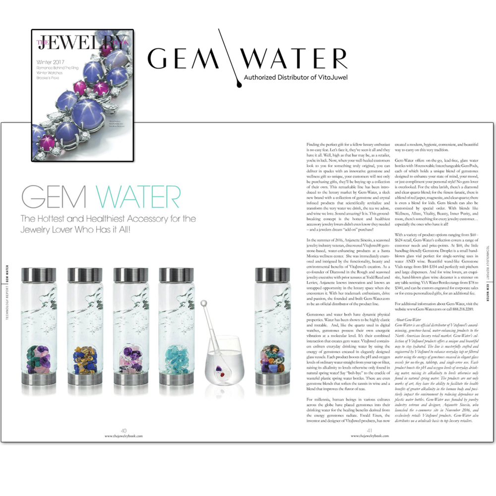 Gem-Water snagged a wonderful placement in the latest issue of The Jewelry Book!
