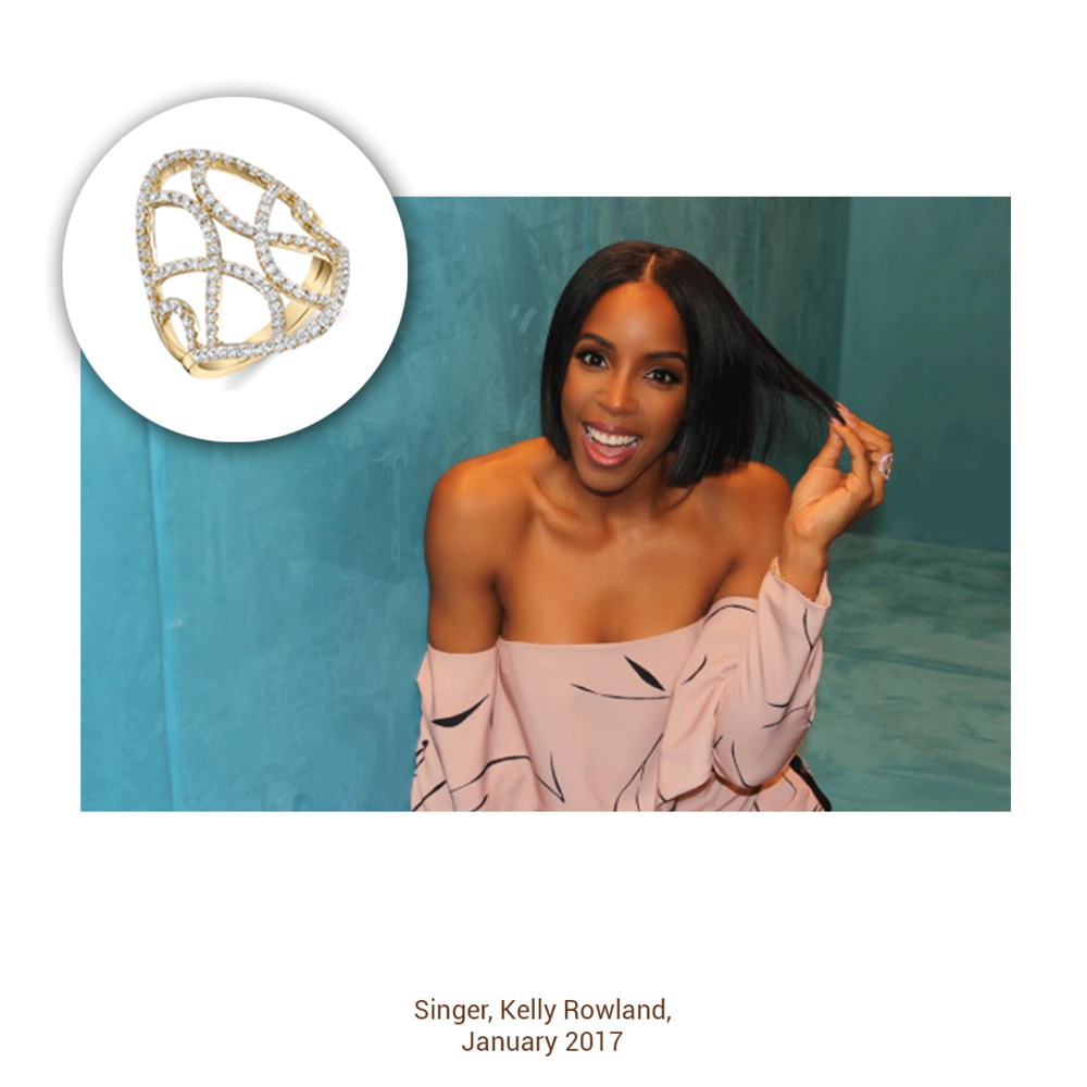 Kelly Rowland looking radiant as always in this ring from the Sylvie Collection