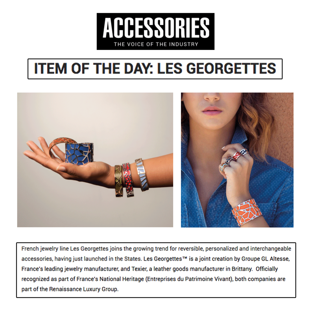 Congrats to Les Georgettes for being featured as the Item of the day on Accessories.