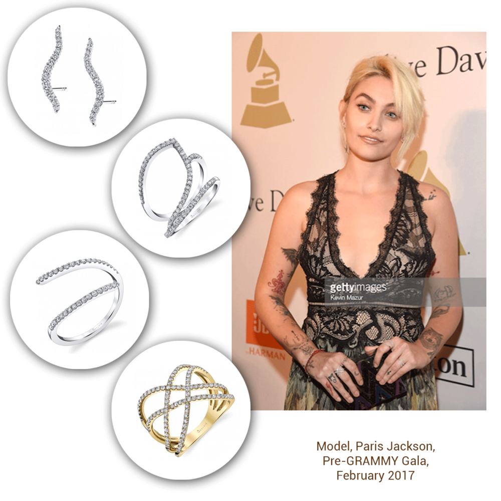 Paris Jackson looks absolutely stunning in the Sylvie Collection for her Grammy look!