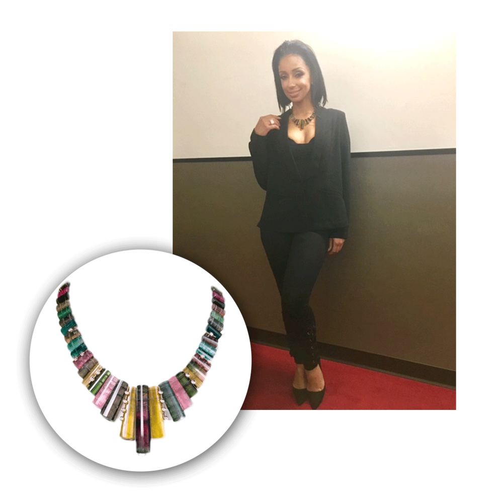 Mya also wore a Spencer Fine Jewelry necklace this past week, that she adored as much as we do!
